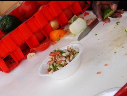 Fresh conch salad, so good!