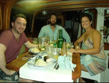 NYE dinner on the sailboat!